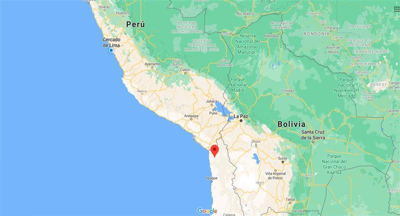 Leve temblor sacudió Tacna este lunes 21 de septiembre. Foto: Google Maps
