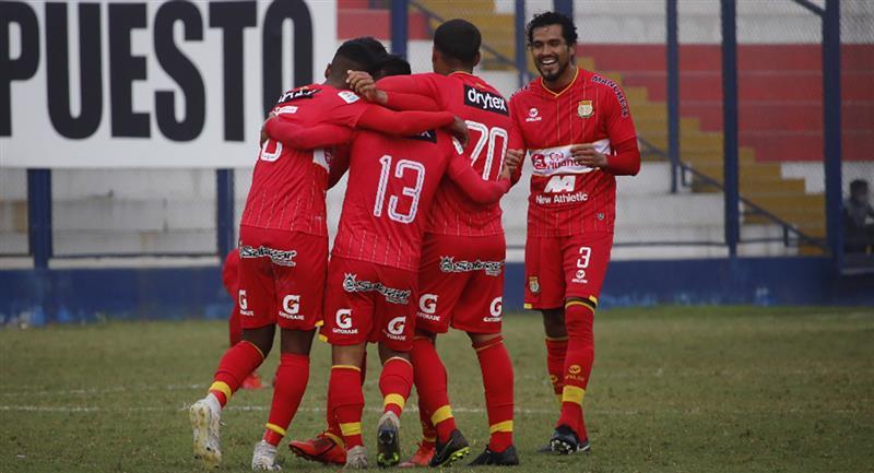 Sport Huancayo y los goles del triunfo. Foto: Prensa FPF