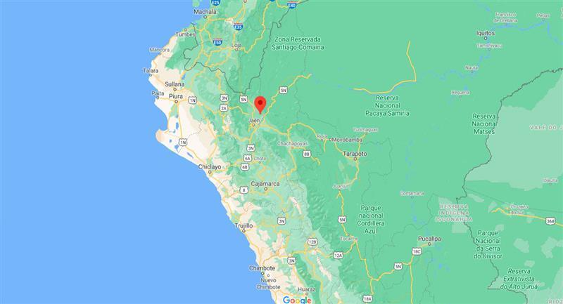 Leve temblor sacudió Bagua, en Amazonas, este miércoles 23 de septiembre. Foto: Google Maps