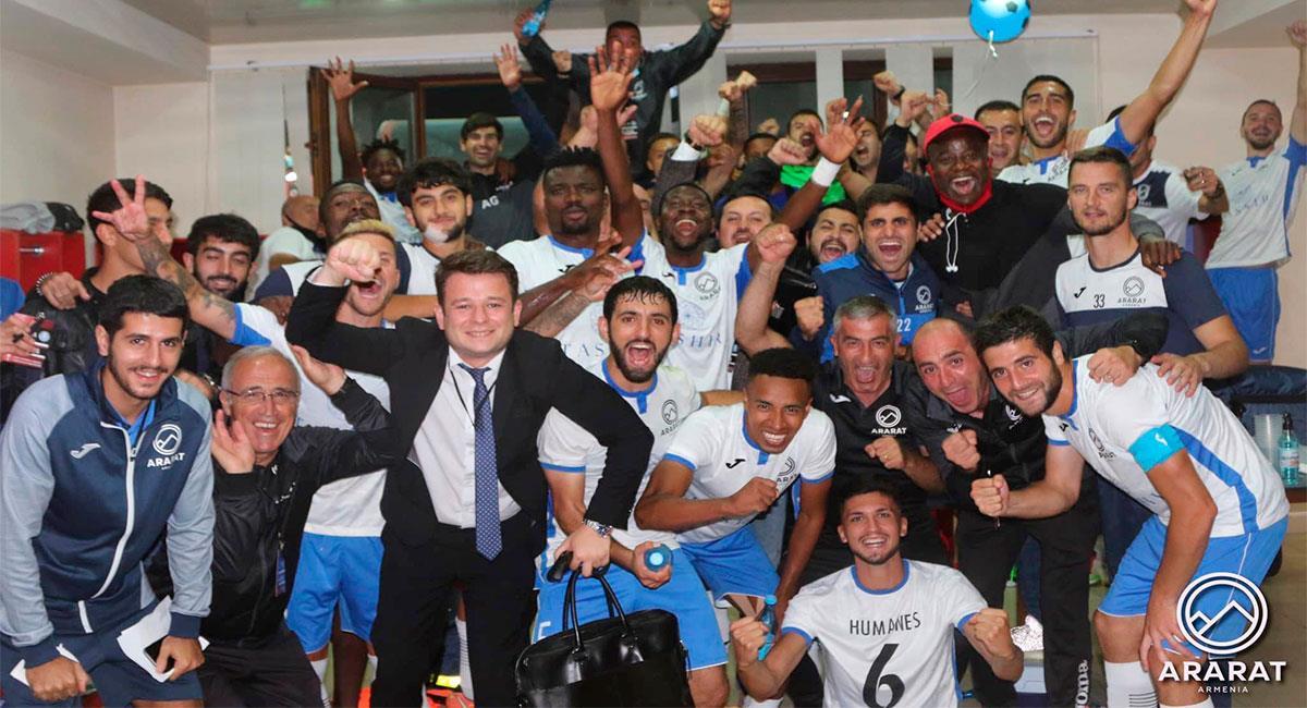 Celebración del equipo de Jeisson Martínez. Foto: Facebook @araratarmeniafc