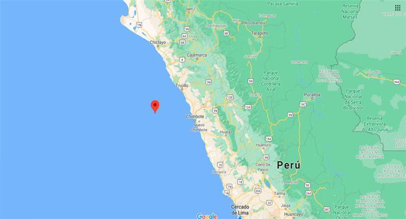 Temblor sacudió Trujillo este viernes 25 de septiembre. Foto: Google Maps