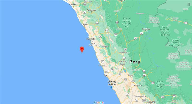 Temblor sacudió Samanco este domingo 27 de septiembre. Foto: Google Maps