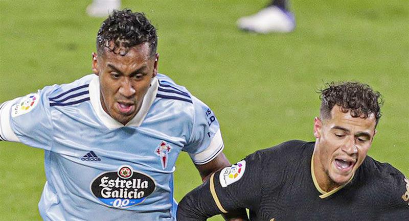Renato Tapia jugó hasta los 74 minutos. Foto: Twitter Celta de Vigo