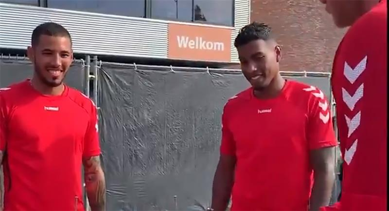 Peña y Araujo son titulares en FC Emmen. Foto: Twitter Captura FC Emmen