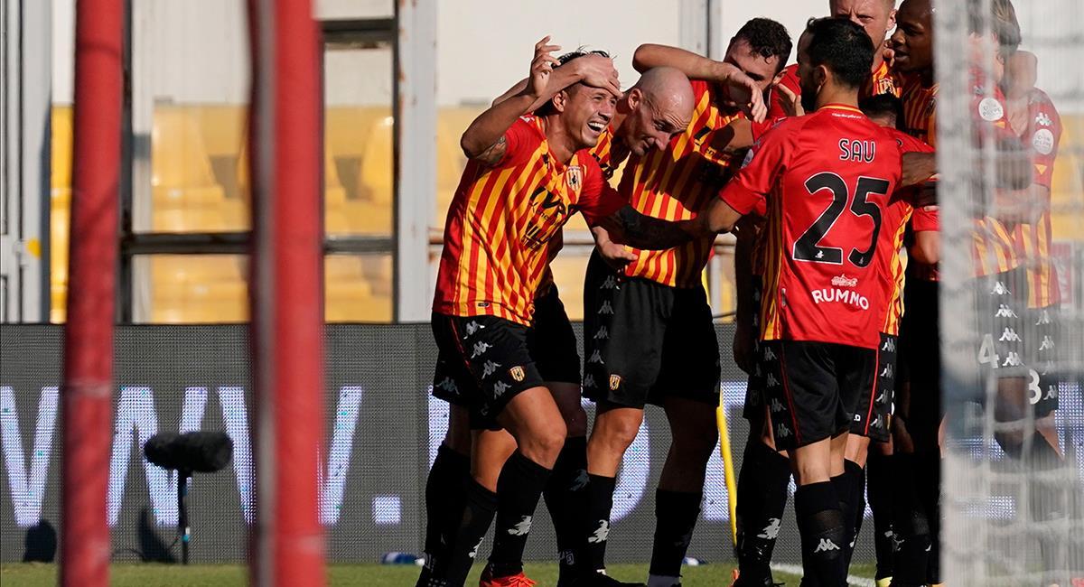 Gianluca Lapadula marcó el gol del triunfo a los  minutos. Foto: EFE