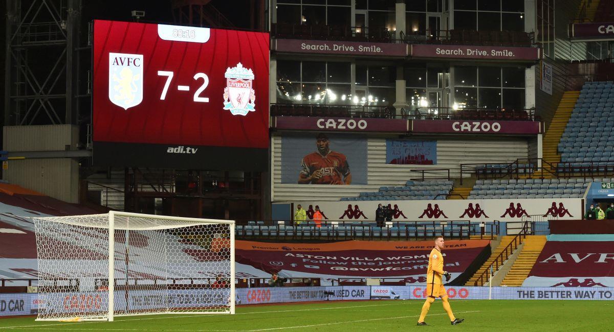 Aston Villa le encajó siete goles al Liverpool. Foto: EFE