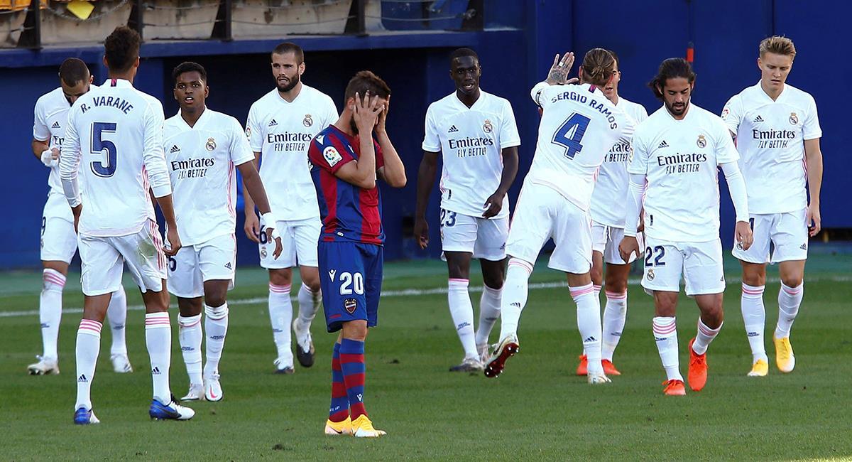 Real Madrid se quedó con la victoria ante Levante. Foto: EFE