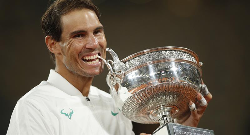 Rafael Nadal se alzó con el título 2020 del Roland Garros. Foto: EFE