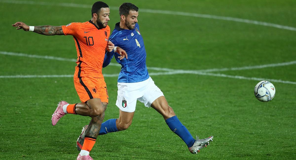 Italia y Países Bajos igualaron a uno en el marco de la fecha 4. Foto: EFE