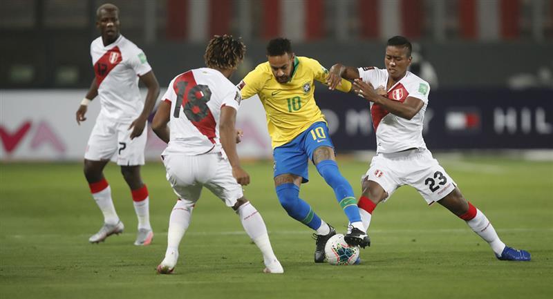 Perú cayó 2-4 ante Brasil en Lima. Foto: Andina