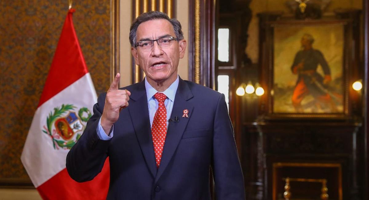 Martín Vizcarra habló fuerte y claro contra el arbitraje del Perú vs Brasil. Foto: Andina
