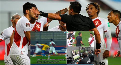 CONMEBOL difundió audio del VAR del Perú vs Brasil
