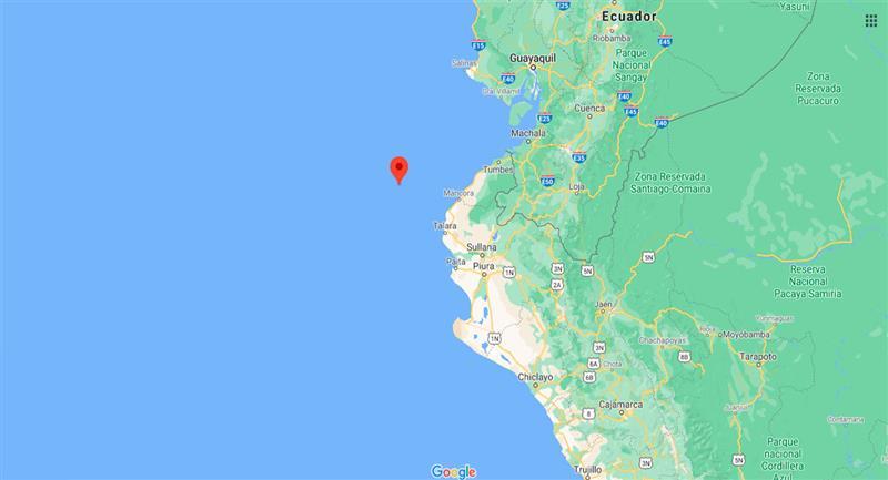 Temblor sacudió Máncora este domingo 18 de octubre. Foto: Google Maps