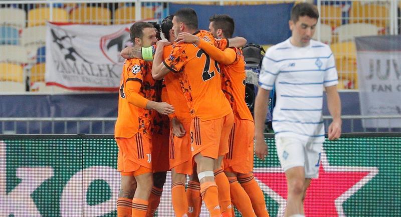 Juventus sumó sus primeros tres puntos ante el Dinamo Kiev. Foto: EFE