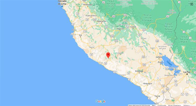 Temblor sacudió Pullo este martes 20 de octubre. Foto: Google Maps