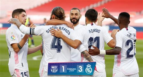 Real Madrid venció 3-1 a Barcelona en el clásico español por la fecha 7 de LaLiga