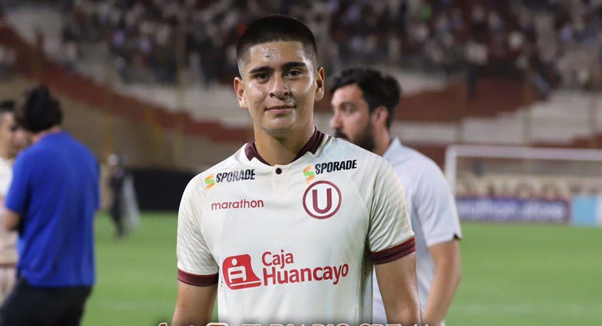 Mathías Carpio es de las jóvenes figuras de Universitario de Deportes. Foto: Twitter El Diario Crema