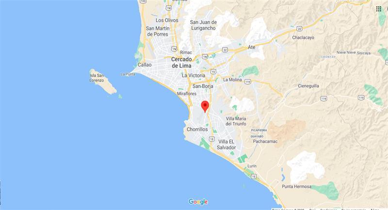 Temblor sacudió Lima este sábado 24 de octubre por la noche. Foto: Google Maps