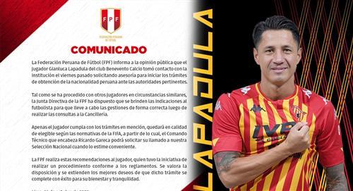 FPF oficializó contactó de Gianluca Lapadula para hacer los trámites de su DNI peruano
