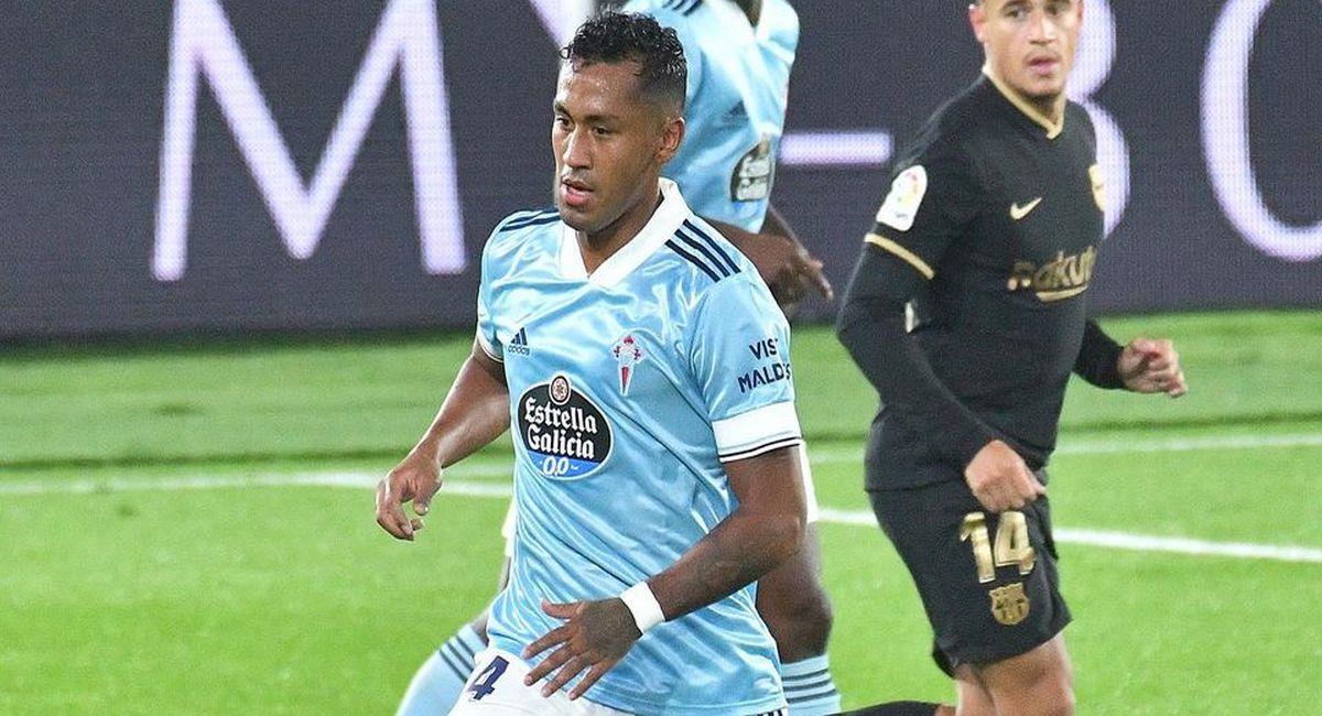 Renato Tapia sigue sumando minutos con Celta. Foto: Facebook Club Celta de Vigo