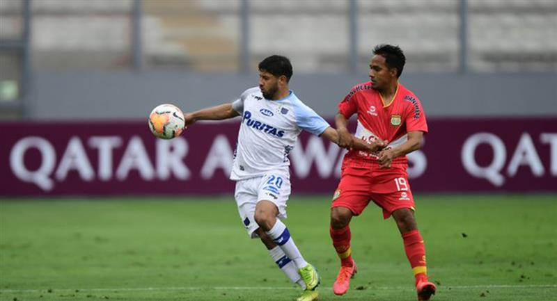 Sport Huancayo pudo empatar con Liverpool de Uruguay en el Nacional. Foto: Twitter @Sudamericana