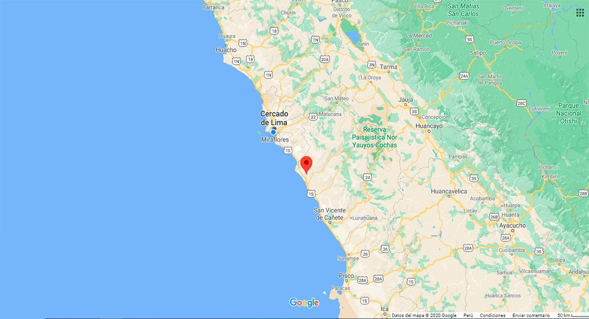 Temblor sacudió Lima este martes 27 de octubre. Foto: Google Maps