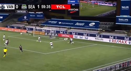 Raúl Ruidíaz asistió para el 2-0 del Seattle Sounders (VIDEO)