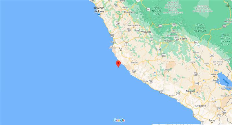 Temblor sacudió Marcona este miércoles 28 de octubre. Foto: Google Maps
