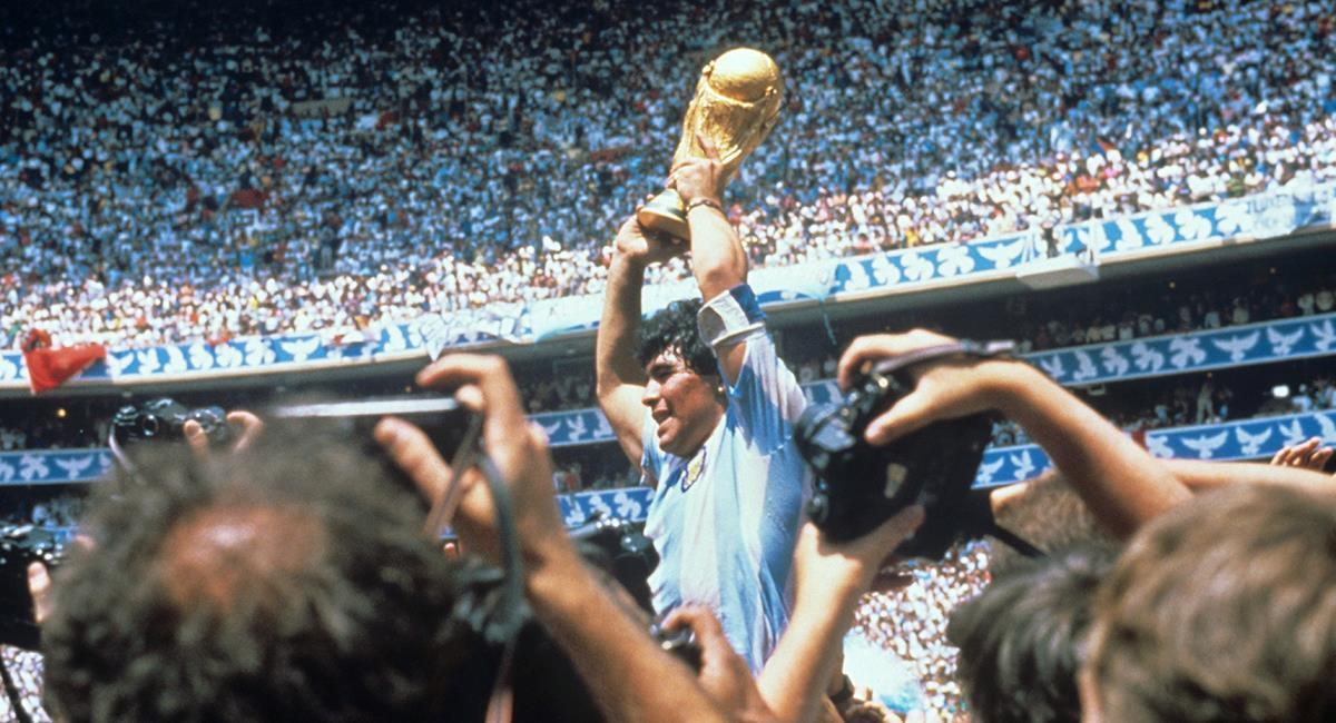 Diego Maradona fue campeón del mundo con Argentina. Foto: EFE