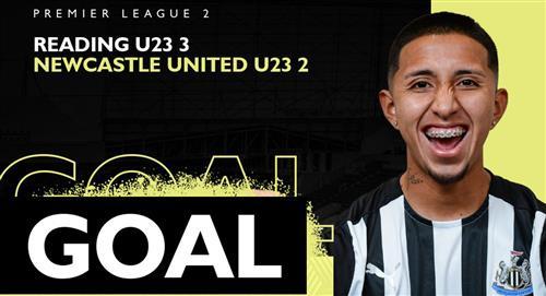 Rodrigo Vilca marcó su primer gol con Newcastle U-23 en derrota de su equipo ante Reading