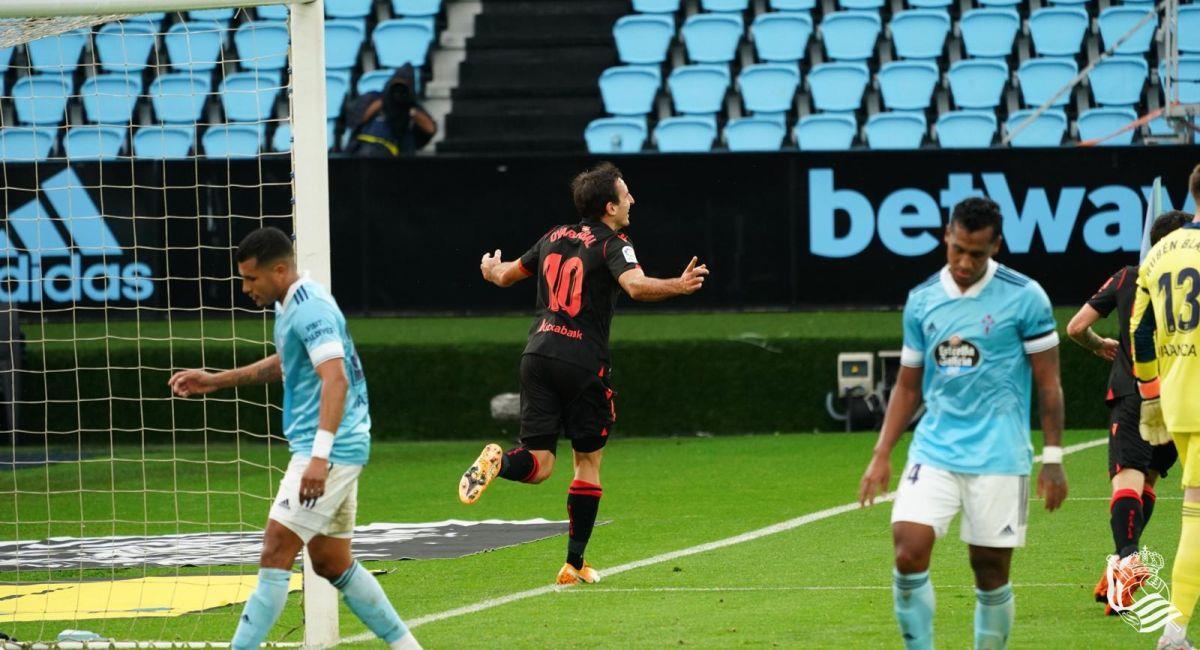 Real Sociedad se dio un festín con el Celta de Vigo. Foto: Twitter Club Real Sociedad