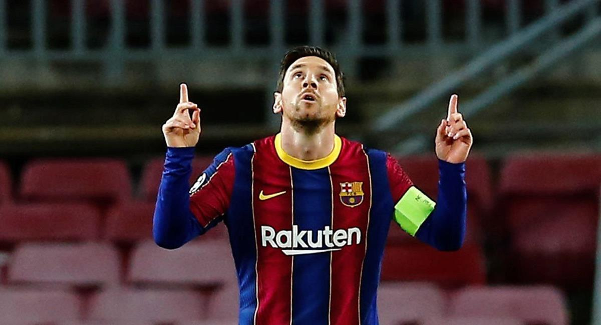 Lionel Messi marcó el primer tanto del Barcelona. Foto: EFE