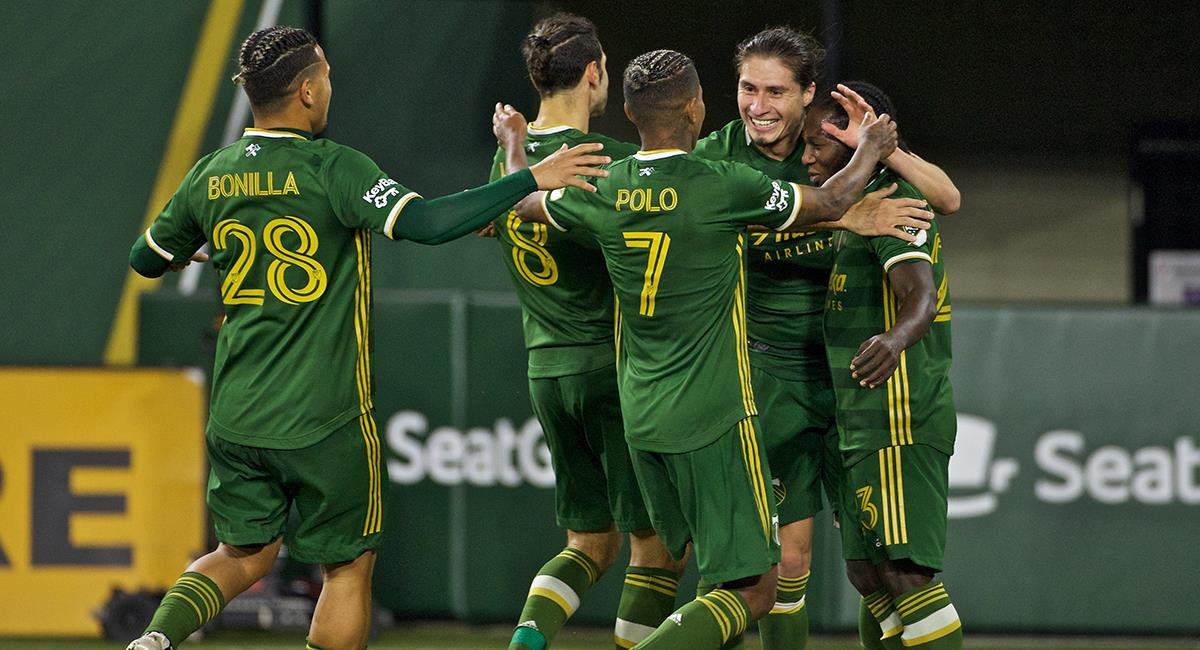Andy Polo ingresó a los 77'. Foto: Twitter Portland Timbers