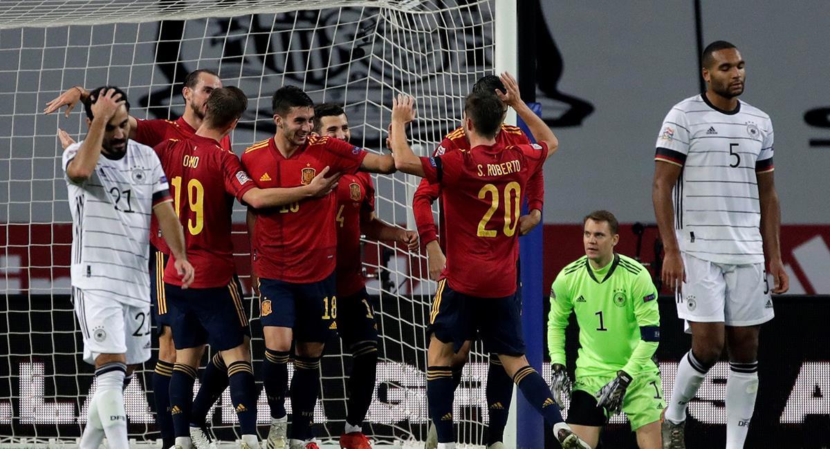 España no tuvo piedad de Alemania en la última fecha de la Liga de Naciones. Foto: EFE