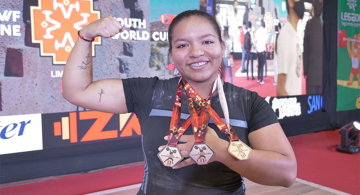 Estrella Saldarriaga ganó tres oros. Foto: IPD