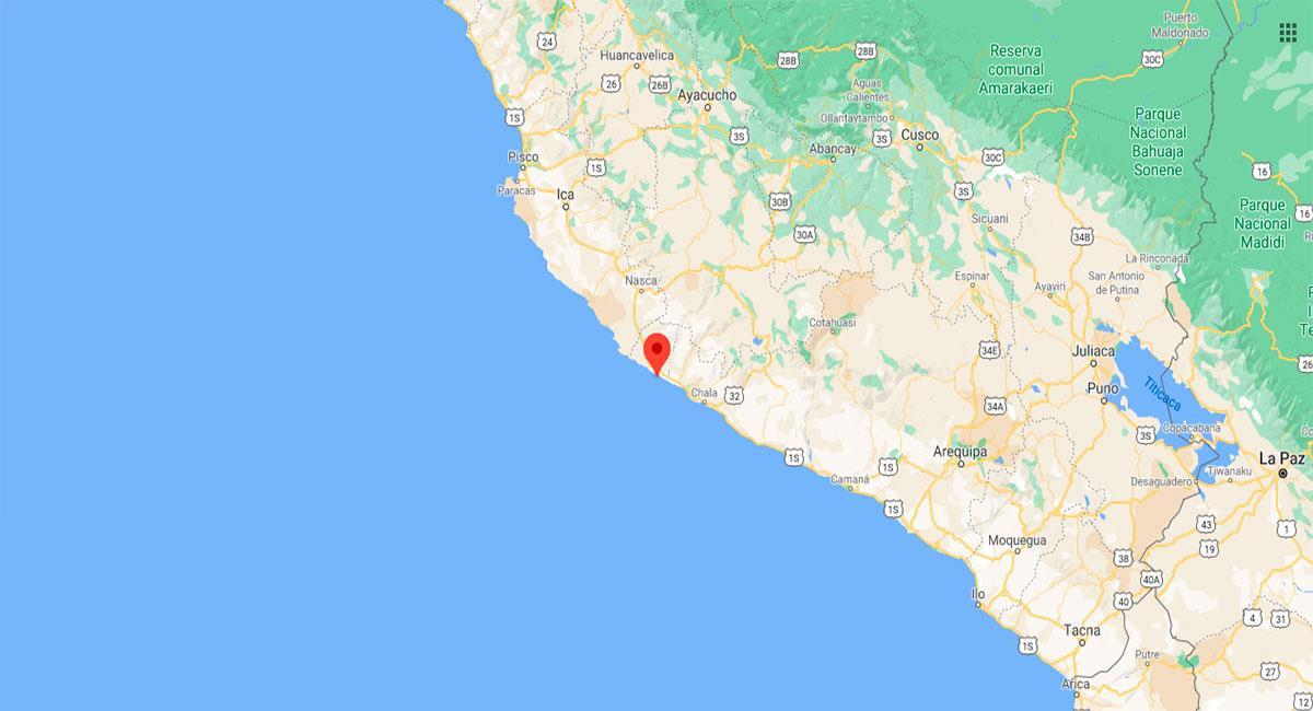 Temblor sacudió Lomas este miércoles 18 de noviembre. Foto: Google Maps