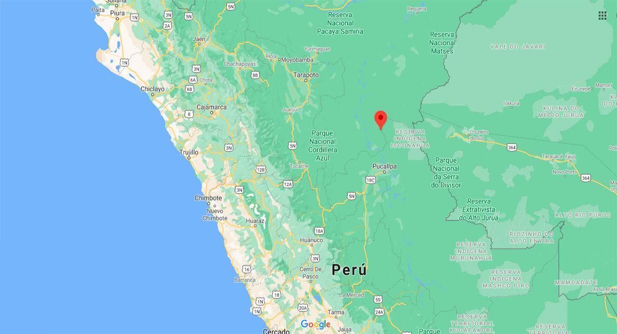 Temblor sacudió Contamana este viernes por la tarde. Foto: Google Maps
