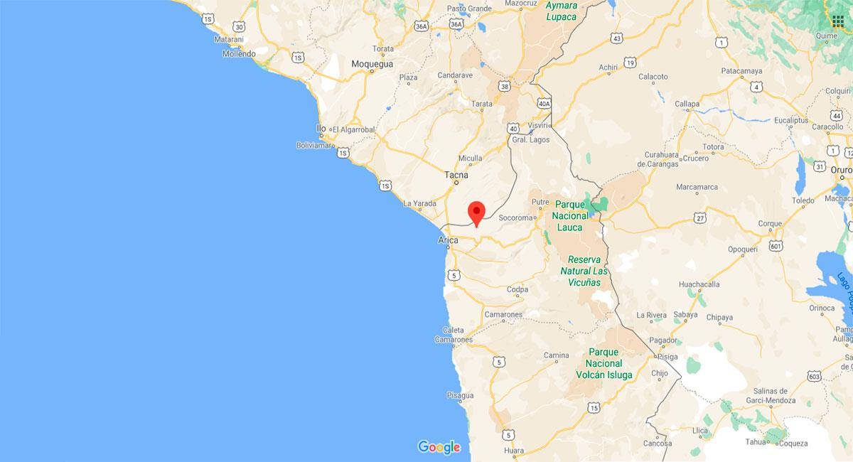 Temblor sacudió Tacna este viernes 20 de noviembre. Foto: Google Maps