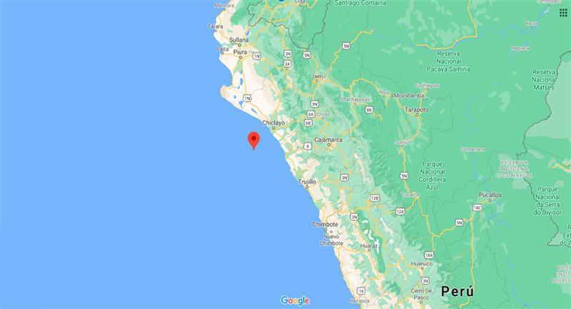 Temblor sacudió Lambayeque este viernes por la noche. Foto: Google Maps