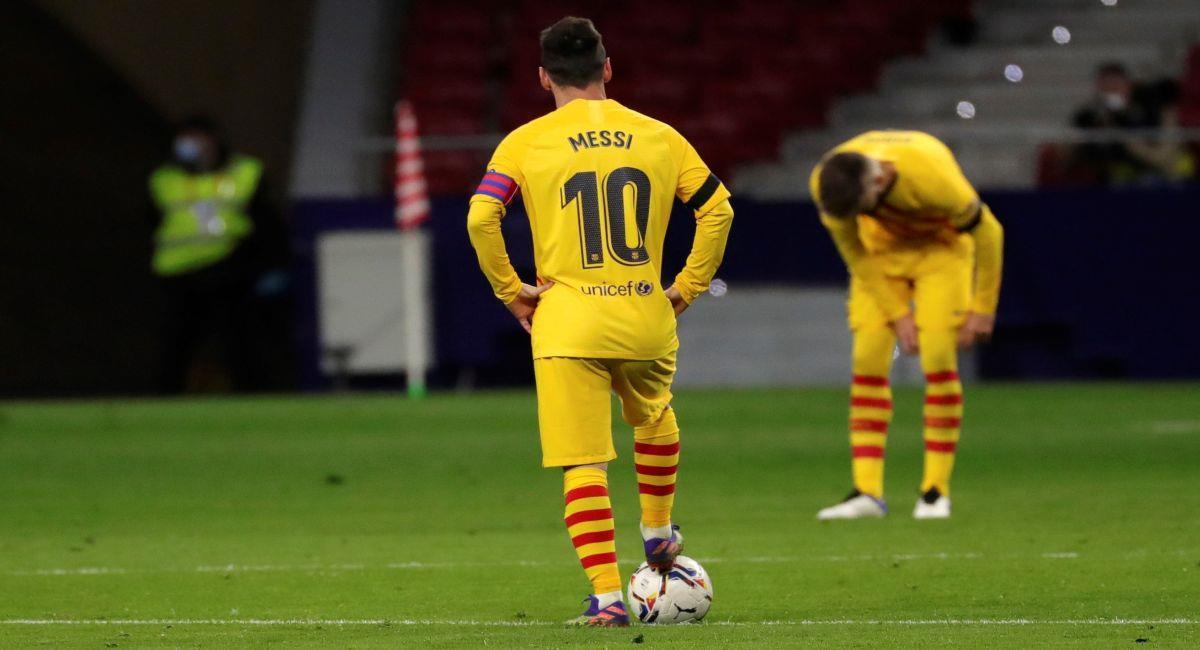 Barcelona fue derrotado a manos del Atlético de Madrid. Foto: EFE