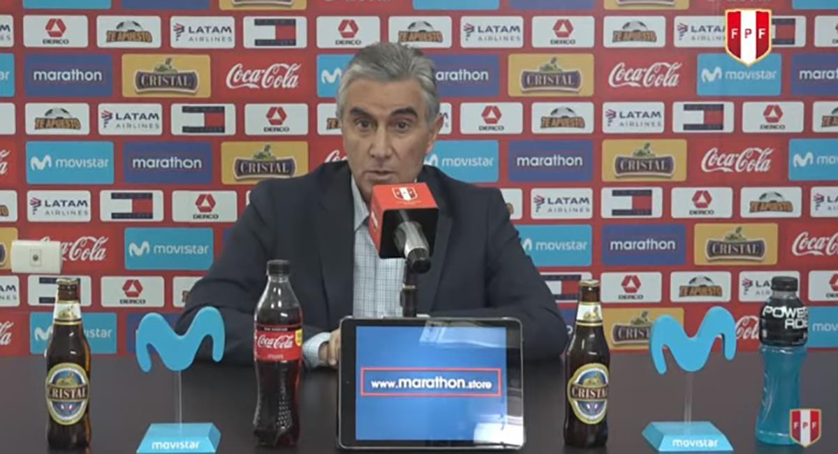 Juan Carlos Oblitas se refirió al 'Tigre' Gareca. Foto: Youtube Captura FPF