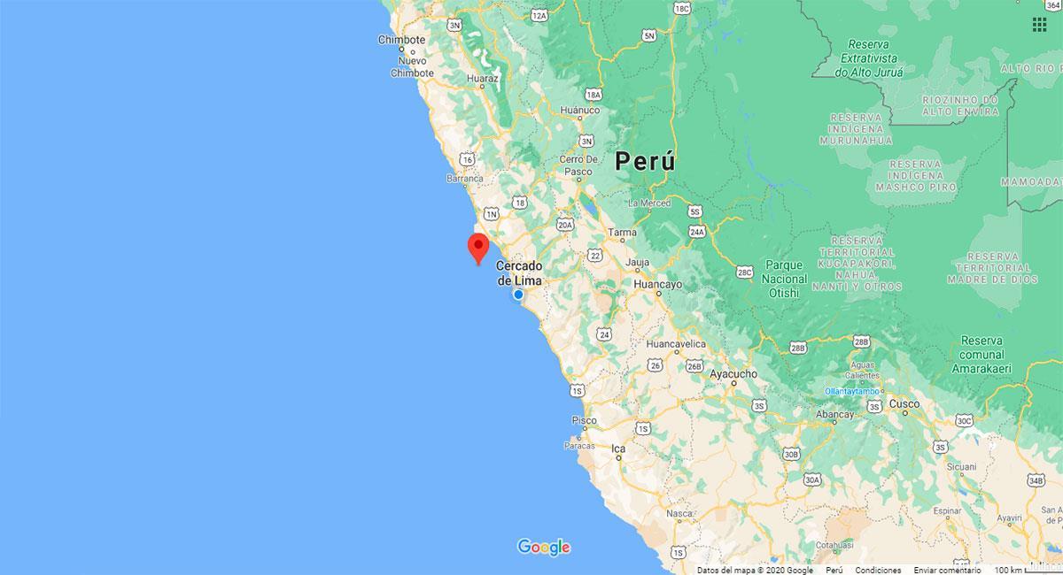 Temblor sacudió Ancón (Lima) este lunes 23 de noviembre. Foto: Google Maps
