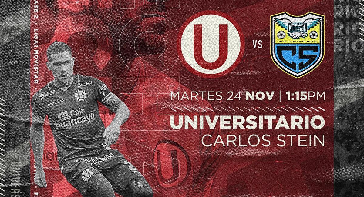 Universitario enfrentará a Carlos Stein. Foto: Facebook Universitario