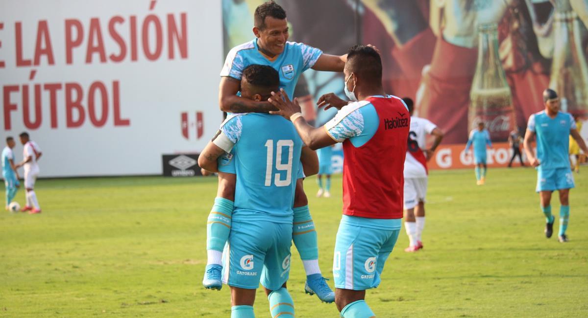 Javier Trauco fue la figura con un hat-trick en Deportivo Llacuabamba. Foto: Prensa FPF