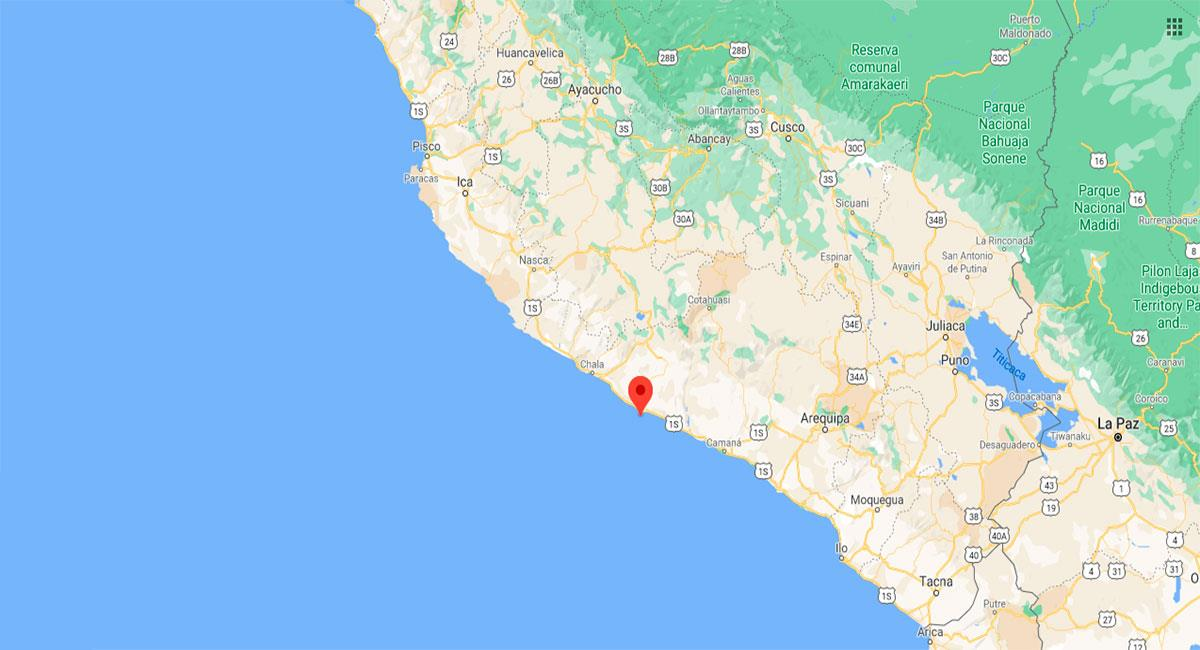 Temblor sacudió Arequipa este martes por la tarde. Foto: Google Maps