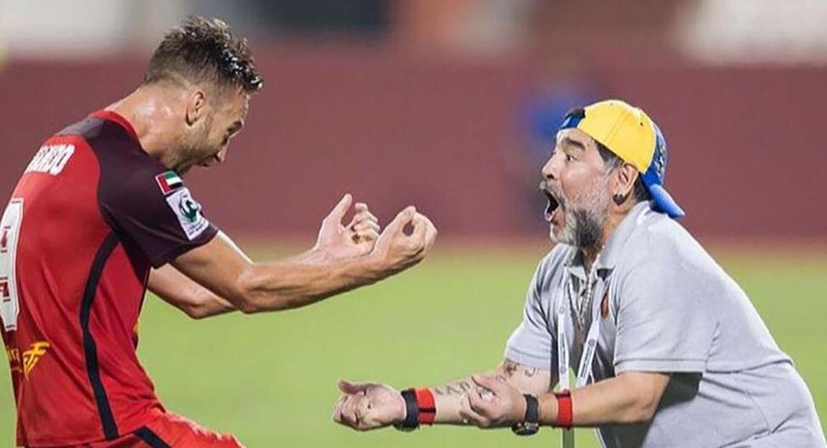 Danilo Carando recuerda con emoción a Maradona. Foto: Twitter @danilocarando9