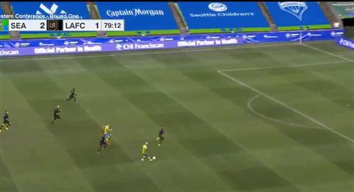 Raúl Ruidíaz y la perfecta asistencia para el 3-1 del Seattle Sounders