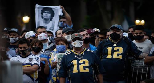 Diego Maradona es despedido en la Casa Rosada de Argentina