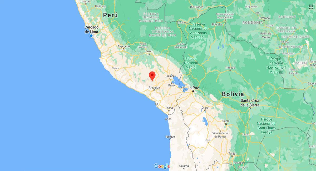 Temblor sacudió Arequipa este jueves por la mañana. Foto: Google Maps