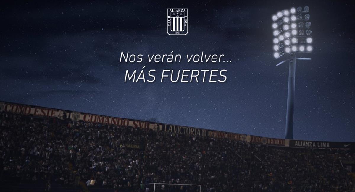 Alianza Lima le pidió perdón a los hinchas. Foto: Twitter Alianza Lima
